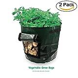 piantapatate, Wommty 2confezione impermeabile resistente tessuto 7galloni Grow bag/aerazione vasi/Planter/verdure borse per coltivare ortaggi: patate, carota e cipolla