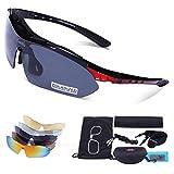 Carfia Occhiali da sole polarizzati di sport UV400 TR90 per lo Sci Golf Corsa Ciclismo Super Leggero per Gli Uomini e le Donne C