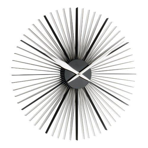 """TFA Dostmann 60.3023.01 \""""Daisy\"""" XXL Design-Wanduhr, moderne außergewöhnliche Form, schwarz / transparent"""