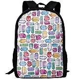 best& Vintage Watercolor Gemstones College Laptop Backpack Student School Bookbag Rucksack Travel Daypack