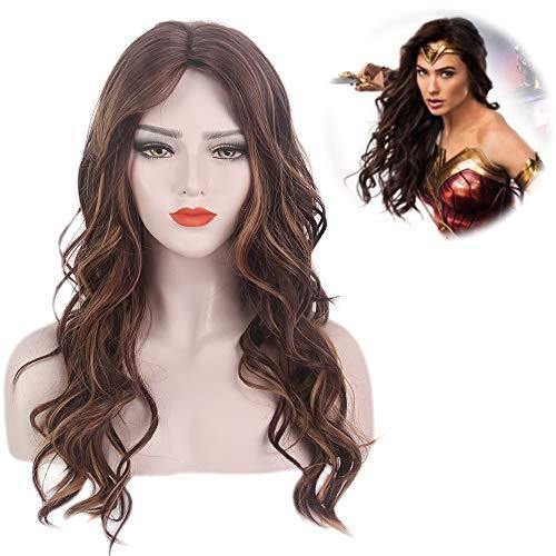 STfantasy Perücke Ombre Braun Zwei Ton Gewellt Lockig Gelockt Lange sexy wig für Frauen Alltag Cosplay Kostüm Karneval Halloween