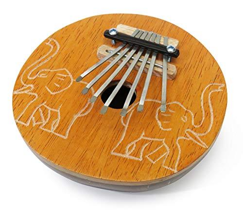 Daumen-Klavier/Karimba/Kalimba/Mbira Percussion Musikinstrument aus handgearbeiteter Kokosnuss mit Elefantenmotiv