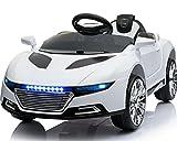 Toyas Kinder Elektro Auto Sportwagen Cabrio Kinderfahrzeug mit Fernbedienung MP3 LED Weiss