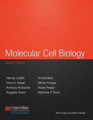 Molecular Cell Biology: International Edition by Harvey Lodish (2012-08-13)