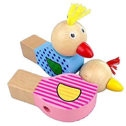 ifen, Cartoon Holz Pfeife Spielzeug Kinder Musikinstrument Spielzeug, Zufällige Farbe ()