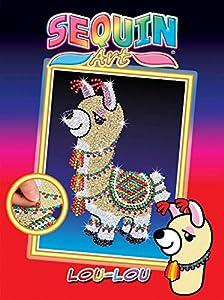 Sequin Art- Kit de Bricolaje para niños, lou la Llama, CREA Bello Arte Colorido con Lentejuelas, (5013-1801)
