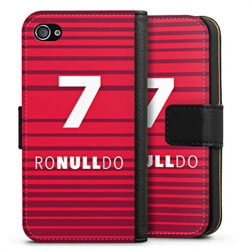 Apple iPhone 7 Silikon Hülle Case Schutzhülle Fußball Christiano Ronaldo Humor Sideflip Tasche schwarz