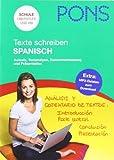 PONS Texte schreiben Spanisch: Aufsatz, Textanalyse, Zusammenfassung und Präsentation von Knabbe, Ira (2012) Broschiert