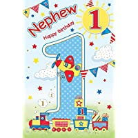 Nephew 1st 1 Today Happy Birthday Card With A Lovely Verse