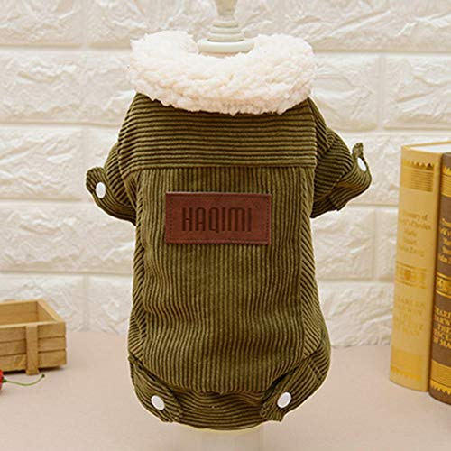 Sen-Sen Berbervlies Hund Jacke Warmer Mantel Winter Hund Kleidung Oberbekleidung Outfit Kaffee M -