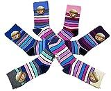 Laake 6 Paar original ALLDAYS! Damen Socken Mädchen Strümpfe 85% Baumwolle ohne Gummi Ringelsocken (39-42, 810 Ringel)