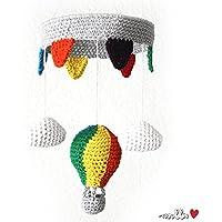 Heißluftballon-Mobile ♥ bunt ♥ gehäkelt