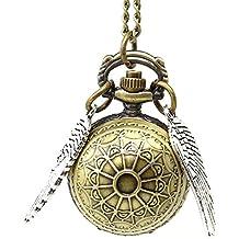 Collar snitch dorada Harry Potter con el reloj colgante