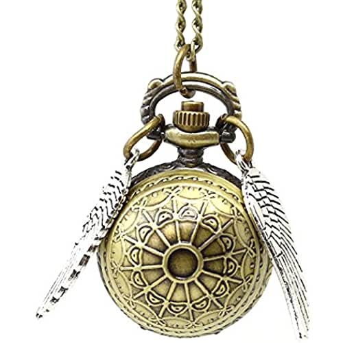 ideas regalos para comuniones kawaii Collar snitch dorada Harry Potter con el reloj colgante