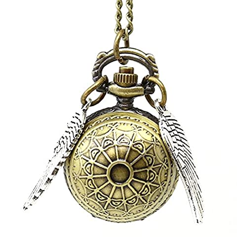 Harry Potter or Collier Snitch avec horloge Pendentif