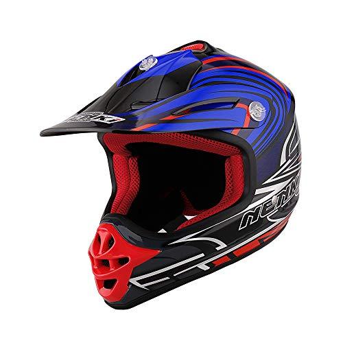 NENKI NK-303 Cascos de moto cross para niños y jóvenes Hot Pistons,...