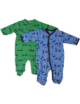 Pippi Nightsuit W/F -Buttons (2-pack) - Pijama Bebé-Niñas