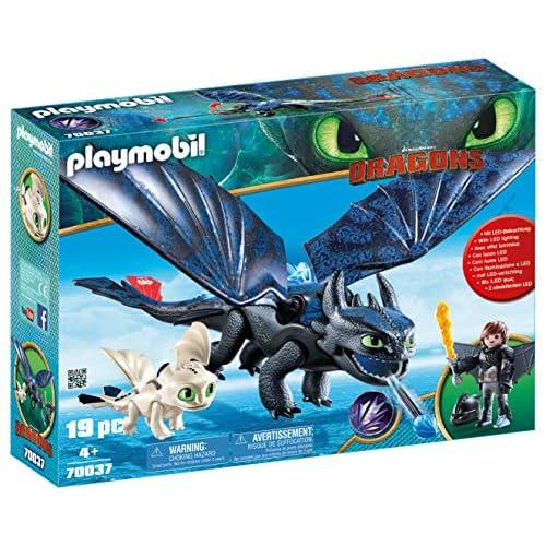 PLAYMOBIL DreamWorks Dragons Hipo y Desdentao con Bebé Dragón, a Partir de 4 Años (70037) 2