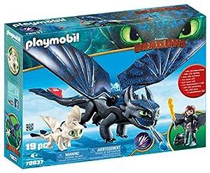 PLAYMOBIL- HIPO y Desdentao con Bebé Dragón Juguete, Multicolor (geobra Brandstätter 70037)