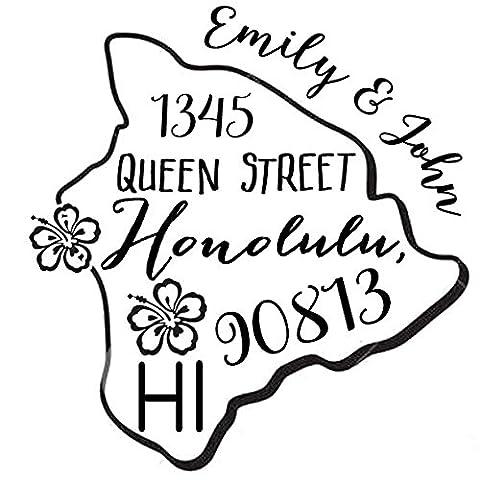 Self Inking Custom Return Address State Map Stamp Personalized Wedding Invites Stamp Proposal Gift