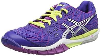 ASICS Gel-Fireblast, Women's Multisport Indoor Shoes, Blue (Clematis Blue/Lightning/Grape 4393), 4 UK (37 EU)