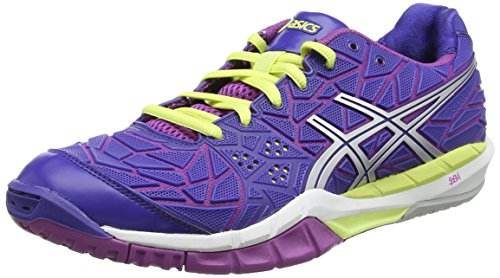 ASICS Gel-fireblast, Damen Hallenschuhe, Blau (clematis Blue/lightning/grape 4393), Größe: 38 EU (Court Asics Schuhe Indoor)