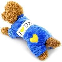 zunea suave pijama perro de terciopelo para cachorros Pet Puppy I Love Mommy dadoy Chihuahua Animales Mono Ropa