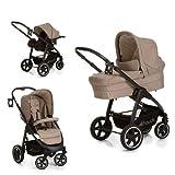 Hauck 4007923143124-3 in1 Kinderwagen Trio Set inklusive Babywanne, Autositz, Sportwagen Beindecke, Getränkehalter, mehrfarbig