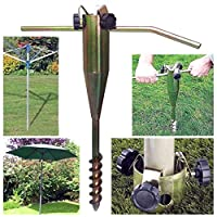 Durable tool HEAVY DUTY STEEL SCREW IN GROUND SPIKE PARASOL AIRER ROTARY WASHING LINE STAND