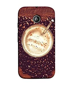 PrintVisa Designer Back Case Cover for Moto E2 (foggy delicious coffee with beans)