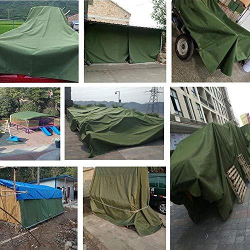 CJC Markisen Segeltuch Plane wasserdichte Abdeckung PVC Glasur Terrasse Dach Vorhang Sonnencreme Balkonabdeckung (Color : Green, Size : 4x8m)