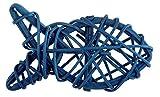 Unbekannt Streu-Deko Rattan Fische dunkel-blau - 4 Stück Konfirmation Kommunion Firmung Taufe Tisch-Dekoration Feier