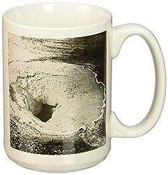 3dRose Vintage Yellowstone National Park Geysers Victor Animatograph Co. 5 Ceramic Mug, 15-Ounce