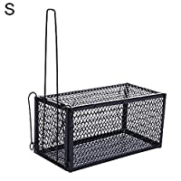 uyhghjhb Rat Catcher Spring Cage Non-toxic Rodent Trap Indoor Outdoor Metal Reusable S