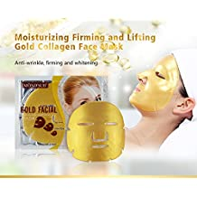 Mond'sub Gold Brightening, Moisturizing and Antiwrinkle Facial Mask Sheets - Pack of 20x60 g
