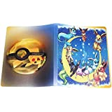 Pikachu Collection 324 Pokemon cards Album Book Top loaded List playing pokemon cards holder album toys WJ101