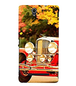 vintage automobile pic 3D Hard Polycarbonate Designer Back Case Cover for Sony Xperia C3 Dual D2502 :: Sony Xperia C3 D2533