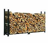ShelterLogic Kaminholzregal, Kaminholzständer, Holzregal Premium 240cm//Brennholzregal für Feuerholz mit hoher Traglast