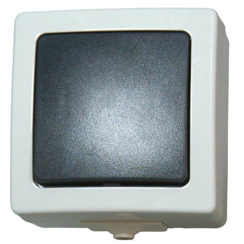Preisvergleich Produktbild Kopp 565656001 Universalschalter (Aus- und Wechselschalter) Aufputz Feuchtraum Nautic