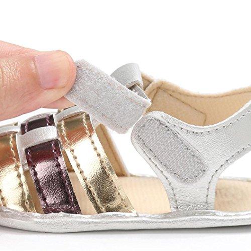 Igemy 1Paar Baby Säugling scherzt Mädchen Weiche Sole Krippe Kleinkind Neugeborene Sandalen Schuhe Gold
