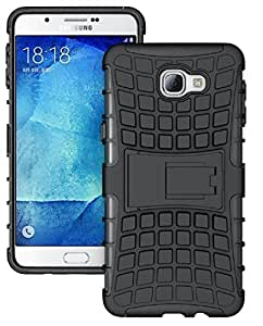 Carla Hard Dual Amor Hybrid Bumper back case with Flip Kick Stand for Samsung A9 by Carla Store.