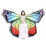 Dance Fairy Danse du ventre Ailes de papillon Angel Isis avec des Bâtons /Tiges,arc en ciel, (Sans autres accessoires)