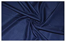 V Walkers Mens Poly Blend Self Design Unstitched Trouser Fabric (1.30 Mtr_Blue_VST183)