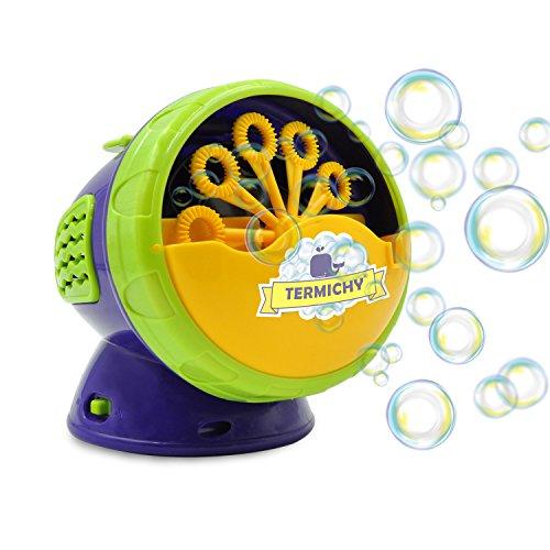 Termichy Seifenblasen Maschine, Kinder Seifenblasenmaschine Batteriebetrieben, Tragbare Bubble Machine für Geburtstagsfeier, Hochzeit und Weihnachten Geschenk, Bubble Blower Maker Kinder (Grün)