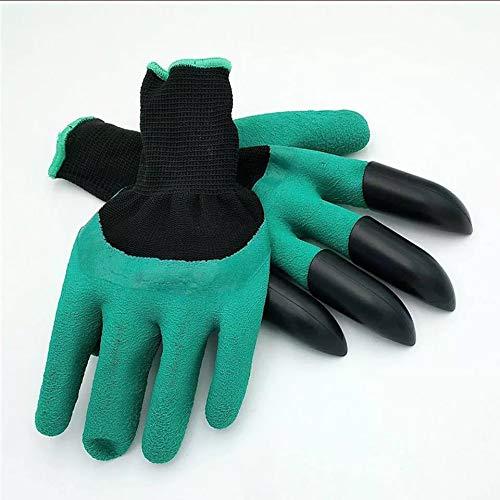 2 Paar Garten handschuhe Homeme Gartenhandschuhe Mit Klauen FüR Den Bau, Gartenbau, Experimentelle Tests Und Montage, Handhabung Von Waren, Lagerung, MüLlabfuhr Und Industrielle Produktion