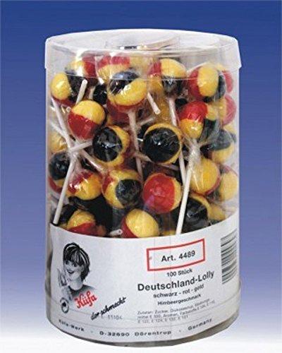 Preisvergleich Produktbild Deutschland Lolly 100 Stück Lollies 1, 7kg
