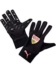 PUMA fútbol guantes de VFB Stuttgart Field reproductor de guantes, otoño/invierno, unisex, color Rojo - rojo, negro, blanco, tamaño 5