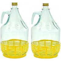 Conjunto de 2 botella de cristal botella de vidrio globo gärballon vasos de vino globo 5L