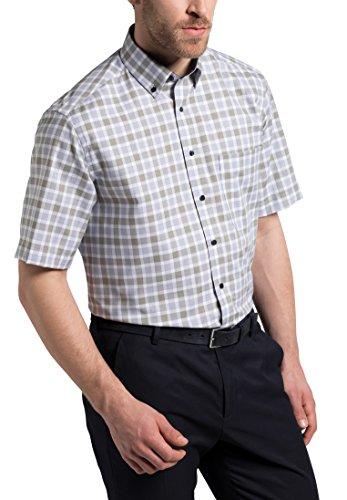 eterna Kurzarm Hemd Comfort Fit Oxford Kariert (Comfort Oxford)