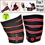 Xtrim Dura Fit Washable Elasticized Polyester Knee Wrap with Hook and Loop Closure